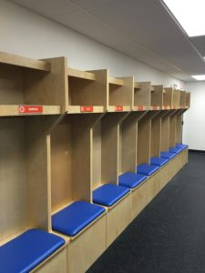 sports lockers and wood lockers